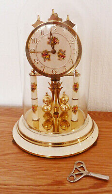£30 • Buy Clock Cream Gold Key With Winder Glass Dome Working Collect FY5 Cleveleys