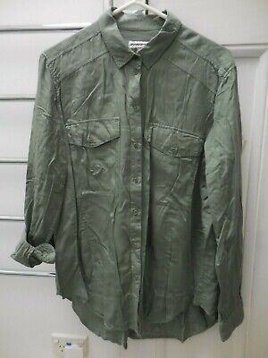 AU19.99 • Buy Country Road Moss Green Boxy Shirt Top Exc Cond L Xl