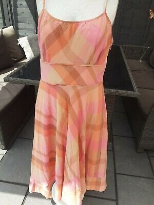 £12.99 • Buy Monsoon Sundress Size 12 Gorgeous Pastel Check Cotton, Summer, Staycation, Fit &