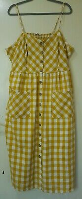 £3.20 • Buy Stunning Tu Summer Checked Dress With Buttons Belt Size 22 Immaculate Worn Once