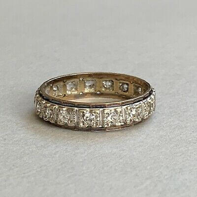 £89 • Buy Vintage 9ct Gold Full Eternity Spinel Ring Size O.5