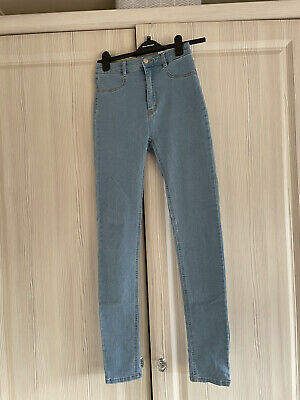 £2.20 • Buy Pull & Bear Skinny High Waisted Blue Jeans - Tall - Size 10