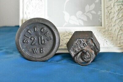 £5 • Buy Vintage Cast Iron Scale Weights X2