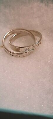£139 • Buy Tiffany & Co Interlocking Circles Ring  Size US 7 Rare Very Old Lovely Co