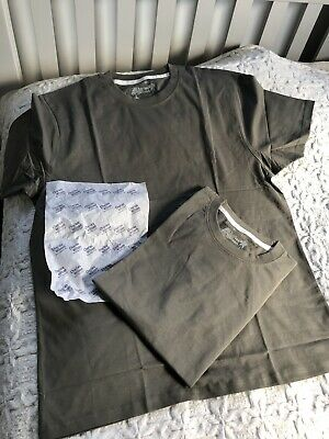 £9.99 • Buy Charles Wilson 2 X Classic Crew Neck T-shirts Olive Green  100% Cotton Size XL