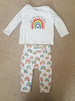 £0.99 • Buy Baby Unisex Rainbow Outfit 6-9 Months F&F Tesco