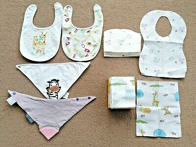 £4.99 • Buy Assortment Of Baby Bibs Including 23 Disposable  - 1 Cheeky Chompers - 3 Others