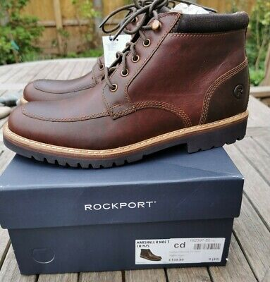 £59.99 • Buy Rockport Marshall Boots Mens Moc Toe Lightweight Brown Size 9/43 NEW BOXED
