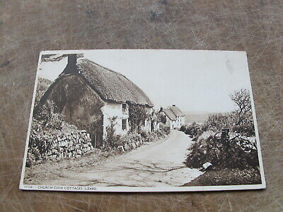 £1.60 • Buy Early Cornwall Postcard -- Church Cove Cottages - The Lizard Nr Helston