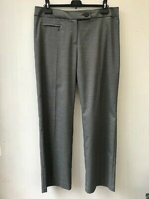 £8 • Buy Gorgeous M&S Grey Mix Smart Formal Straight Leg Trousers Size 16M Excellent Cond