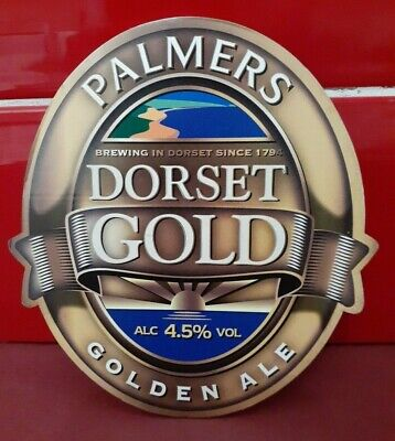 £3.99 • Buy Palmers Brewery - Dorset Gold - Beer Pump Clip Front