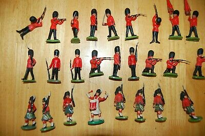 £9.99 • Buy Job Lot Of 26 Vintage Britains Herald Highland Soldiers And Guards