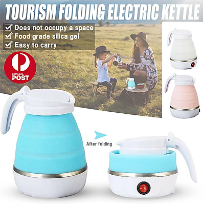 AU28.99 • Buy Folding Electric Water Kettle 600ml Silicone Portable Handheld Travel Camping