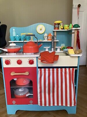 £40 • Buy ELC Wooden Kitchen With Utensils, Pans And Extra Food
