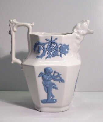 £10.50 • Buy Victorian Antique Glazed Pottery Water Jug With Animal Mask Spout.