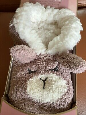 £5 • Buy New Boxed Totes Pink Glitter Rabbit Bunny Cosy Slippers Size 4-8