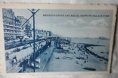 £2.90 • Buy Vintage Postcard Brighton Front And Beach Showing Palace Pier – Unused #4