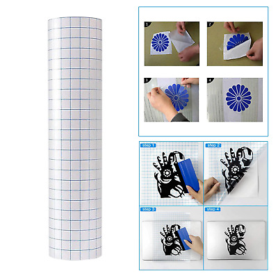 £6.75 • Buy Adhesive Transfer Paper Vinyl Tape Roll Clear Blue Grid 30*100cm Circuit Cameo