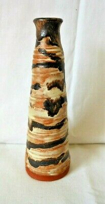 £12.99 • Buy Unusual Red Earthenware Studio Pottery, Round Chimney Vase, Inscribed & Dated 67