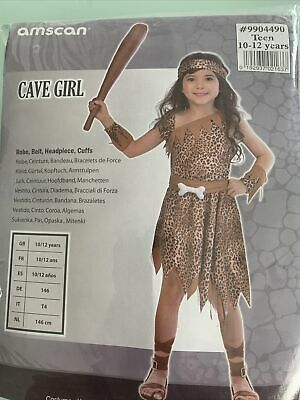 £10 • Buy Girls Fancy Dress Cave Girl Outfit Age 10-12