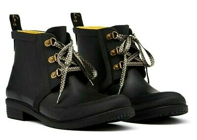 £44.95 • Buy JOULES ASHBROOK UK5 Rubber Lace-up Chelsea Boots Wellies Black ~ BNIB RRP£49.95