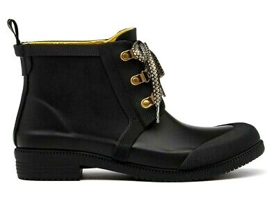 £44.95 • Buy JOULES ASHBROOK Black UK7 Rubber Lace-up Chelsea Boots Wellies ~ New With Tags
