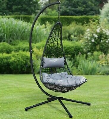 £249.99 • Buy Garden Hanging Egg Chair W/stand&Cushion Patio Egg Chair FREE Delivery New Boxed