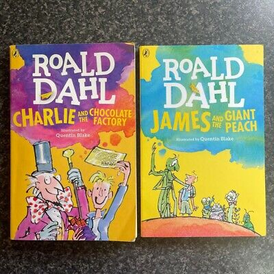 £0.99 • Buy Roald Dahl Books Charlie And Chocolate Factory James And The Giant Peach