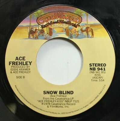 £2.82 • Buy Rock 45 Ace Frehley - Snow Blind / New York Groove On Casablanca Records