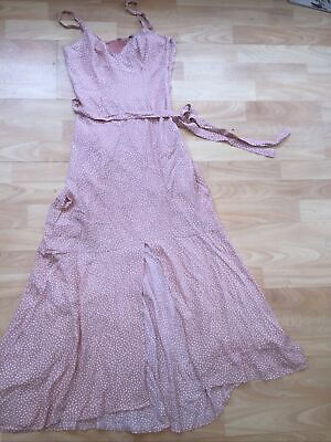 £24.99 • Buy NEW! & OTHER STORIES Uk 4 PINK DITSY SOLD OUT SLIP DRESS SUMMER MIDI DRESS EU 32