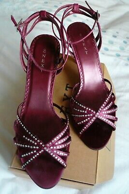 £15 • Buy NEXT Gorgeous, Magenta (Pink), Strappy 'Diamante' Studded Sandals/Shoes. Size 8.