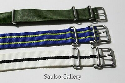 £28.93 • Buy 3 NATO Watch Straps Fits Rolex And OMEGA Watches From Prominent Estate