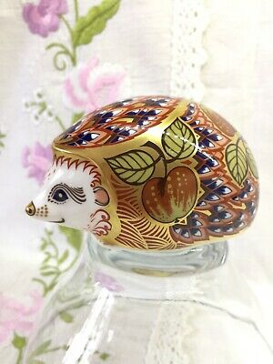 £65 • Buy Royal Crown Derby Orchard Hedgehog Paperweight Gold Stopper Collectors Guild