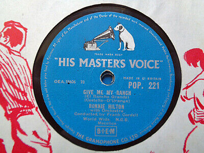 £3.99 • Buy RONNIE HILTON - Give Me My Ranch / Who Are We 78 Rpm Disc (A+)