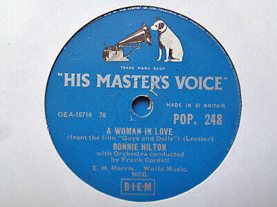 £3.99 • Buy RONNIE HILTON - A Woman In Love / I Just Found Out About Love 78 Rpm Disc (A+)