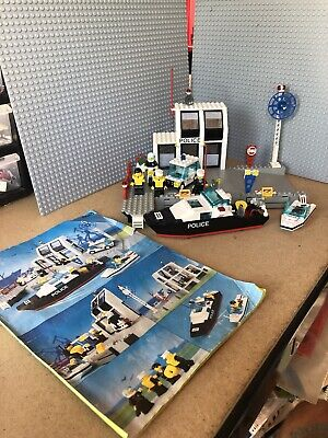 £49.99 • Buy Legoland Vintage Town Set 6540 Police Harbour Pier Station With Instructions.