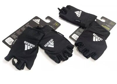 £9.90 • Buy  Adidas Adjustable Essential Gloves Weight Lifting Fitness Training Gym Workout