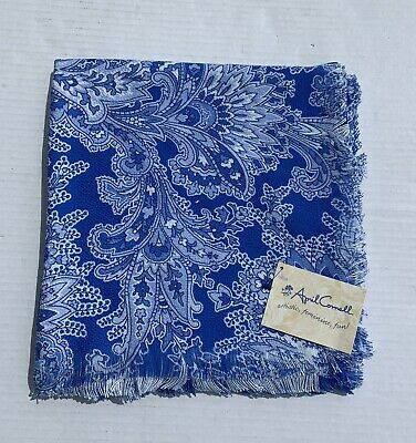 """£24.09 • Buy April Cornell Tablecloth Blue White Provence 51.5""""x51.5"""" Floral French Colonial"""