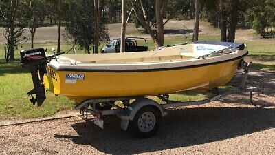AU5000 • Buy Savage Angler ( Dolphin ) Fishing Boat & Trailer In VG Orig. Cond. No Reserve!!!