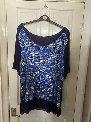 £2.99 • Buy Very Navy Jersey Longline Tunic Top Size 22 Excellent Condition