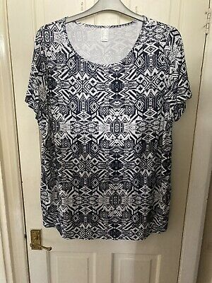 £2.99 • Buy NWOT Freemans Navy Cotton Jersey Longline Tunic Top Size 24 Excellent Condition