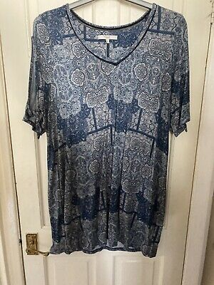 £2.99 • Buy Next Jersey Longline Cold Shoulder Tunic Top Size 20 Excellent Condition