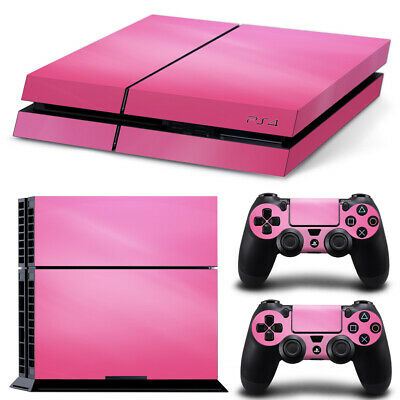 AU14.95 • Buy Playstation 4 PS4 Console Skin Decal Sticker Pink +2 Controller Skin