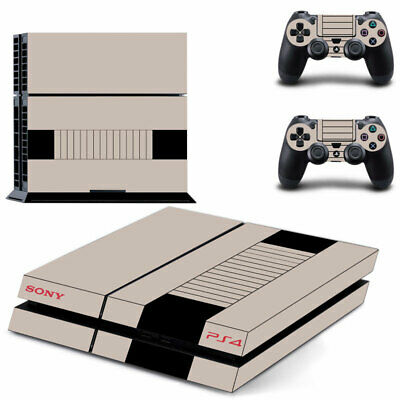 AU14.95 • Buy Playstation 4 PS4 Console Skin Decal Nes Retro +2 Controller Skin