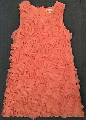 £4.20 • Buy Girls Blue Zoo Coral Pink Summer Party Dress Age 9 Years