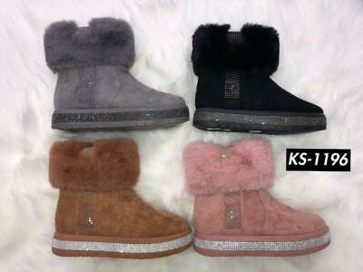 £9.99 • Buy Ladies Slippers Women Girls Winter Warm Fur Luxury Ankle Boots Boots Shoes Size