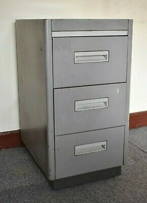 £17 • Buy Metal 3 Drawer Storage Filing Cabinet, Drawers Hold A4 Width Paper Side By Side