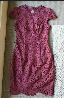 AU50 • Buy New Forever New Wine Burgundy Lace Dress - Size 8