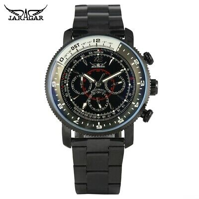 £26.59 • Buy JARAGAR Men's Automatic Mechanical Watch Military Army Watches Full Steel Band