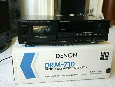 £45 • Buy Vintage DENON DRM-710  3-Head Stereo Cassette Tape Deck +Remote Working Serviced